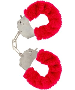 Toy Joy: Furry Fun Cuffs Plush, röd